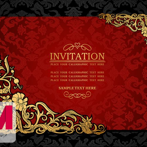 Invitation Cards www.Modernera.ir  500x500 - وکتور کارت دعوت