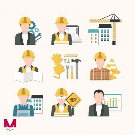 Building engineer icons www.Modernera.ir  450x450 - وکتور آیکون های مهندسی
