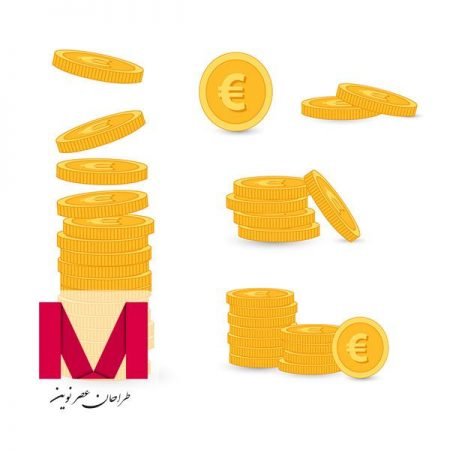 Golden coins pack www.Modernera.ir  450x450 - وکتور سکه طلایی