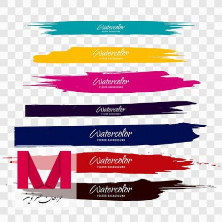 Colorful watercolor brush strokes www.Modernera.ir  450x450 - وکتور کادر قلموی رنگارنگ