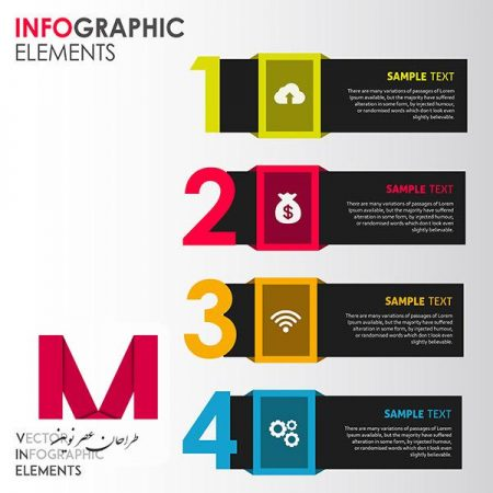 colorful vector infographic Designs 2 www.Modernera.ir  450x450 - وکتور طرح عناصر رنگارنگ اینفوگرافیک