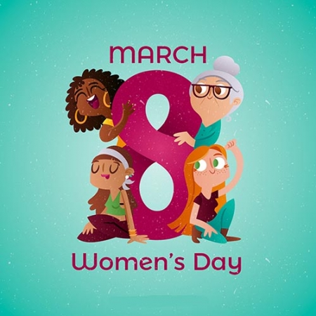 Creative womans day design www.Modernera.ir  450x450 - وکتور روز زن و خانوم