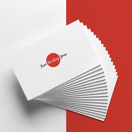 Elegant Business Card MockUp on Texture Background 450x450 - موکاپ کارت ویزیت زیبا با پس زمینه بافت دار