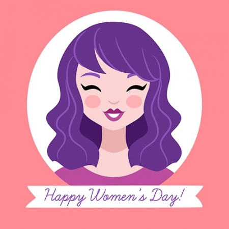 Hand drawn happy women s day background www.Modernera.ir  450x450 - وکتور روز زن و دختر