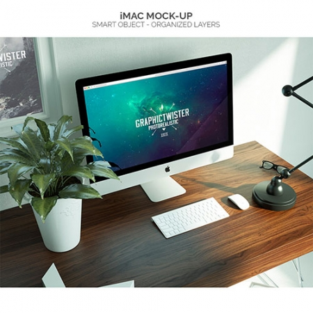 IMac mock up www.Modernera.ir  450x450 - موکاپ کامپیوتر