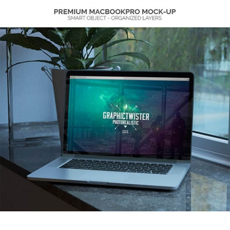 Mock up of macbookpro www.Modernera.ir  450x450 - موکاپ لپ تاپ