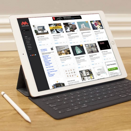 Realistic tablet mock up www.Modernera.ir  450x450 - موکاپ ipad