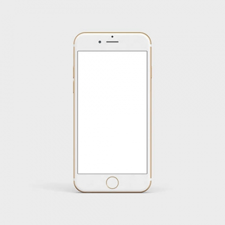 White mobile phone mock up www.Modernera.ir  450x450 - موکاپ گوشی آیفون