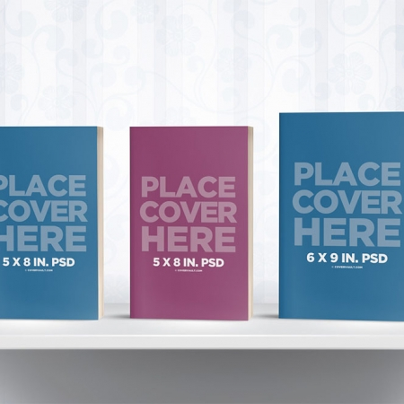 072 1 Bookshelf Mockup with 3 Books COVERVAULT www.Modernera.ir  450x450 - صفحه اصلی