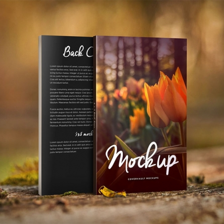 081 1 5x8x0.50 Nature Things Front Back Book Mockup COVERVAULT www.Modernera.ir  450x450 - موکاپ کتاب در طبیعت / 081