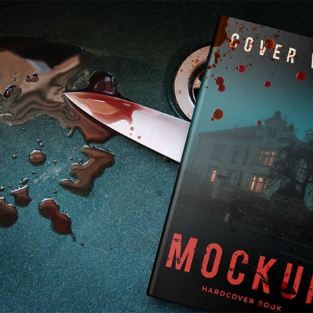 084 1 5x8 Hardback Horror Blood Book Mockup COVERVAULT www.Modernera.ir  450x450 - موکاپ کتاب ترسناک / 084