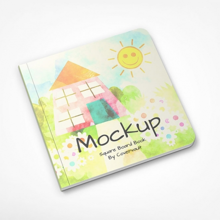 091 1 Square Flat Childrens Board Book Mockup COVERVAULT www.Modernera.ir  450x450 - موکاپ کتاب کودک / 091