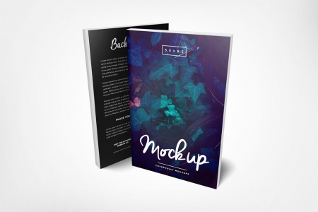 093 1 5.5x8.5 Front and Back Paperback Book Mockup COVERVAULT www.Modernera.ir  450x300 - موکاپ کتاب / 093
