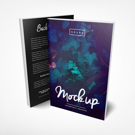 093 1 5.5x8.5 Front and Back Paperback Book Mockup COVERVAULT www.Modernera.ir  450x450 - موکاپ کتاب / 093